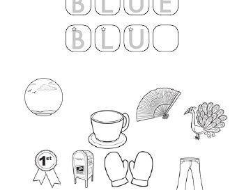 teach September: Coloring and Missing Letters in Color Words