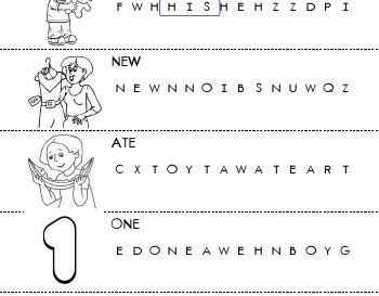 September: Circle the Word worksheet