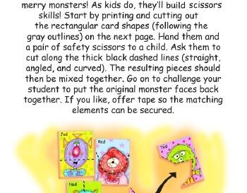 teach September: Monster Matching - Scissor Skills