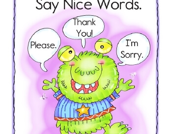 Bulletin Board Posters: Monsters Have Manners teaching resource