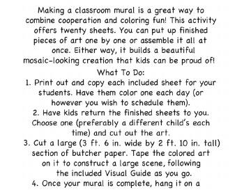 September: September Kindergarten Mural - Activity for Class teaching resource