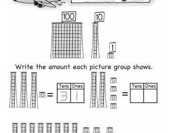 September: Becky's Place Value 1st Grade worksheet