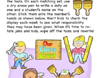 September: Class Helpers worksheet