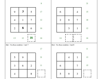 teach Addition Squares