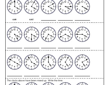 teach Clocks and Counting by Fives and Tens