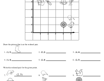 teach September: Ordered Pairs Printables with Pictures
