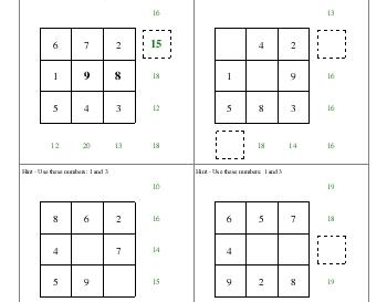 teach September: Addition Squares