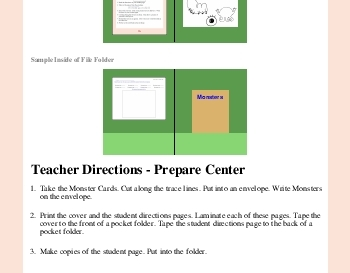 teach September: Draw a Monster - Following Directions Learning Center