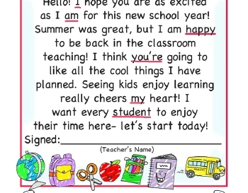 teach September: Welcome Poster