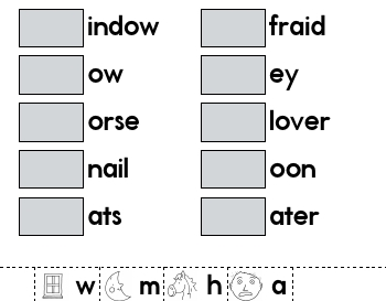 Complete the Words worksheet