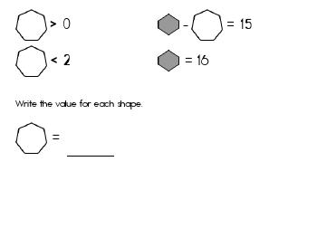teach September: Algebra: Unknown Shape Equations