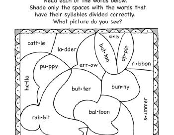 teach September: Syllable Activities