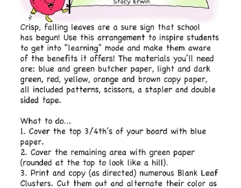 September: Fall in Love with...Learning Bulletin Board worksheet