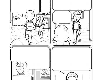 Writing: A Cartoon Story Line worksheet