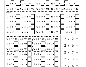 teach September: Multiply Twelves