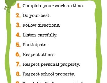 teach September: Class Rules