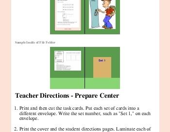 Locker Combo Math Learning Center worksheet