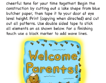 teach Parent Night Door Decor