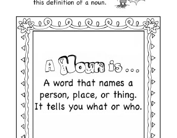 I Know Nouns worksheet