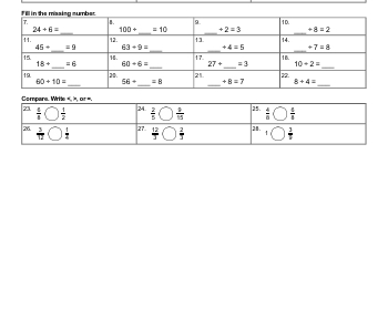 September: Math Review worksheet