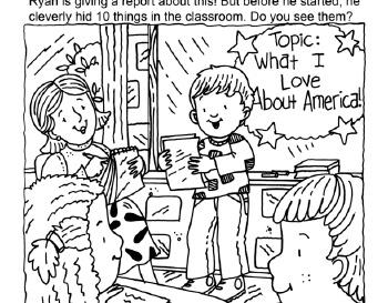Hidden Pictures: Ryan's Report teaching resource