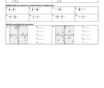 Math Review worksheet