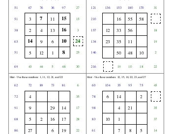 teach September: Subtraction Squares