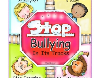 teach February: Stop Bullying In Its Tracks Poster