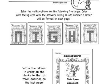 teach Math Cat Fun
