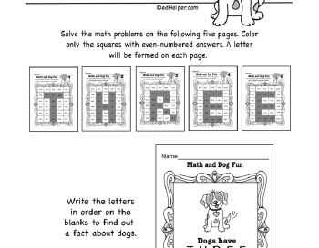 February: Math Dog Fun teaching resource