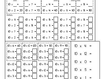 teach February: Multiply Tens