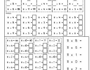 teach Multiply Elevens