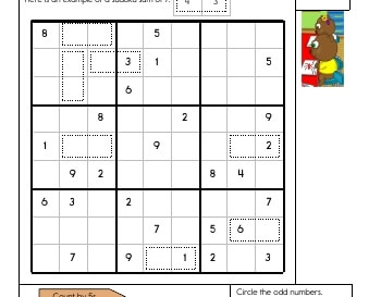 Sudoku Sums worksheet