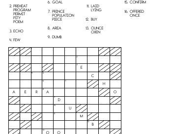 Place the Words worksheet