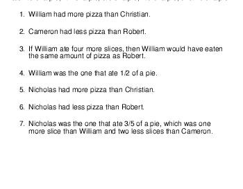 teach Logic Puzzle: Pizza