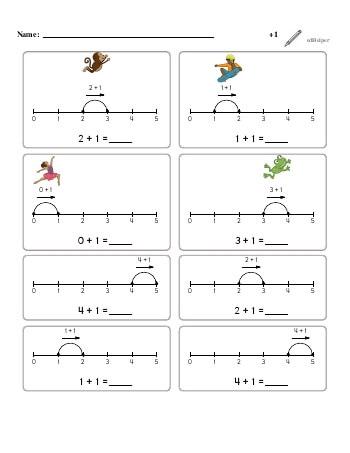 teach Numberline Adding +1