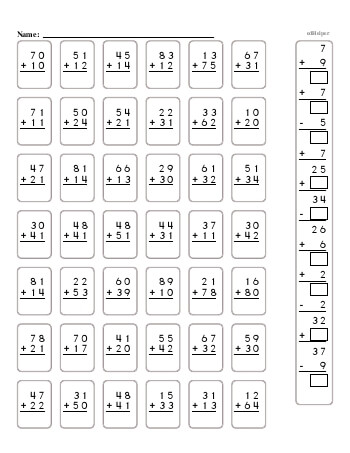 2-Digit Addition Book [No Carrying] teaching resource