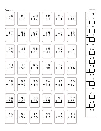 teach 2-Digit Addition Book [Half Page No Carrying]