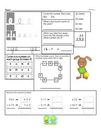 teach Writing cursive E with second grade mixed work (Book #2)