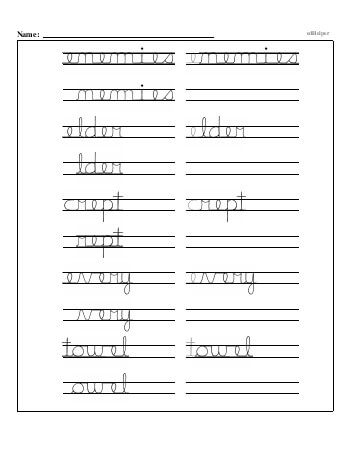 teach Writing cursive E with third grade mixed work (Book #2)