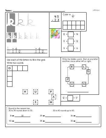 teach Writing cursive K with third grade mixed work (Book #2)