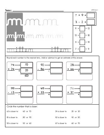 teach Writing cursive M with third grade mixed work (Book #2)