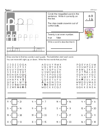 teach Writing cursive P with third grade mixed work (Book #2)