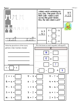 Writing cursive R with third grade mixed work (Book #2) worksheet