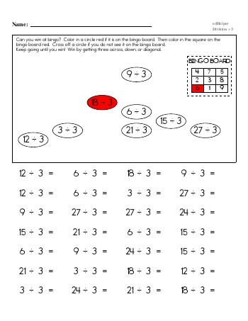 Division ÷3 Workbook teaching resource