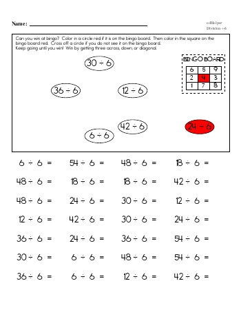 teach Division ÷6 Workbook