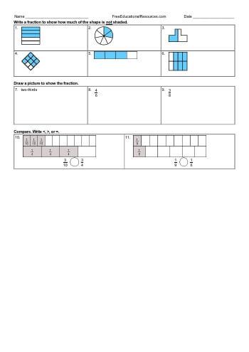 teach Understand Fractions Workbook