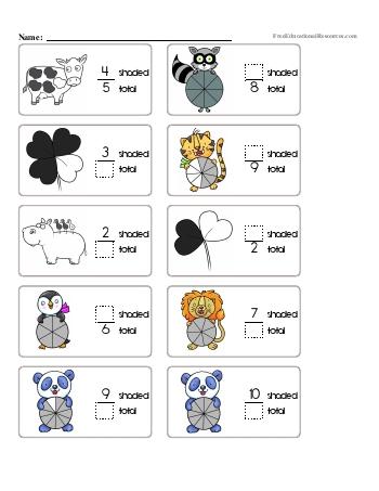 Learning about Fractions Worksheet #1 worksheet