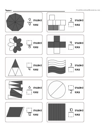 teach Learning about Fractions Worksheet #2