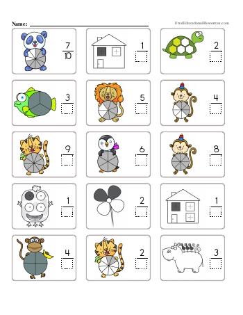 Fractions - Missing Denominators - Worksheet #1 teaching resource